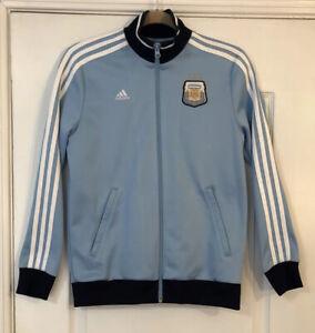 MESSI #10 Argentina Womens Large ADIDAS Light Blue AFA Soccer Futbol Jacket F01