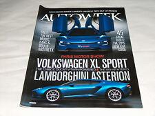 autoweek OTTOBRE 2014 Car Truck RIVISTA Parigi, VW XL SPORT LAMBORGHINI ASTERION