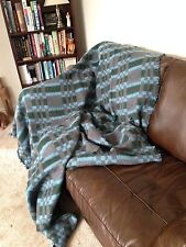 Heavy Green/Grey/Blue Blanket/Throw (approx.180x200cm)- Recycled materials