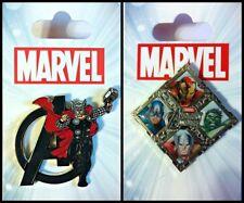 Disney Parks 2 Pin Lot MARVEL Avengers Thor + shield
