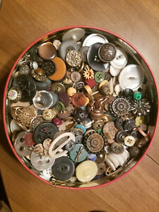 Antique Vintage Mixed Lot Buttons Over 3 lbs - MOP Glass Metal - Check Them Out