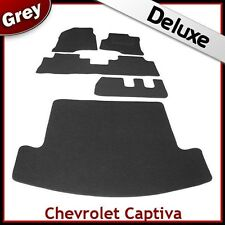 CHEVROLET CAPTIVA 7-Seater 2006 onwards Tailored LUX 1300g Car & Boot Mats GREY