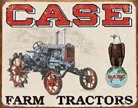 Case Farm Tractors Vintage Barn Advertising Retro Wall Decor Metal Tin Sign New