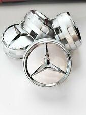 4x Mercedes Nabendeckel 75mm Silber AMG Edition One Radkappen Felgendeckel NEU