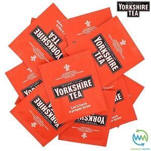 YORKSHIRE Tea Bags SACHETS Individual ENVELOPED Tagged Bag 100% BLACK Classic