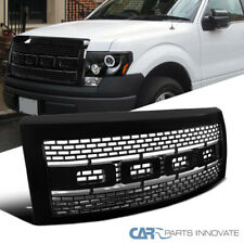 Raptor Look For 09-14 Ford F150 Pickup Replacement Black Front Hood Grille+Shell