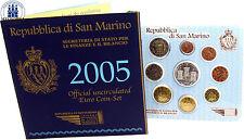 San MARINO 8,88 euro 2005 stgl. KMS 1 cent - 2 euro 2005 con 5 Euro Argento Onofri