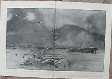 1902 Antique Prints - MARTINIQUE VOLCANIC DISASTER  - St. Pierre Before & After