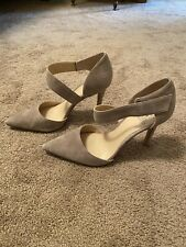 Vince Camuto Taupe Neutral Pointed Toe Heels 8