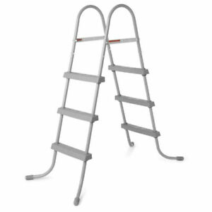 Fast Delivery Bestway 58334E 36-Inch Steel Above Ground Pool Ladder No-Slip Step