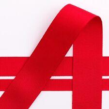Grosgrain Ribbon 16mm Width - Choose Your Shade - per Metre Red