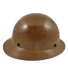 Msa Skullgard Hard Hat Suspension Light Fiberglass Tan Full Brim Never Worn