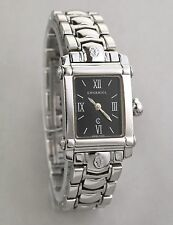 PHILLIP CHARRIOL COLVMBVS SWISS LADIES SS QUARTZ ANALOG BLACK DIAL WATCH