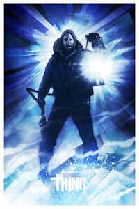 Yvan Quinet Drew Struzan Tribute THE THING Movie Poster Mondo Print RARE x/30