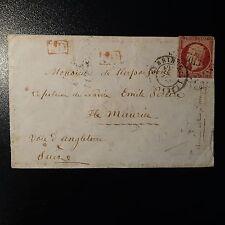 FRANCE NAPOLÉON N°17A LETTRE COVER PC 3013 ST. BRIEUC POUR ILE MAURICE COTE 850€