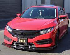 2016+ Honda Civic Front Lip Splitter (EX, SI) No Support Rods - Enforced Aero