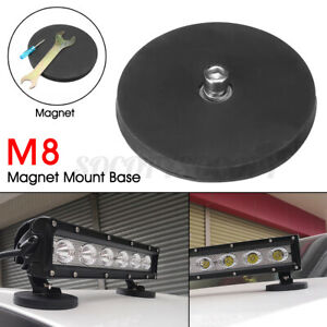 Magnet Base Mounting Bracket Holder With Rubber Pad For Car LED Work Light Bar