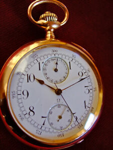 14k Goldene Omega Taschenuhr Chronograph