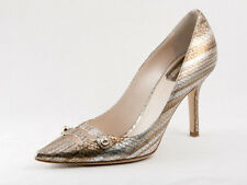 New  Dior Chic Escarpin Python Finished Leather Pumps  37 US 7