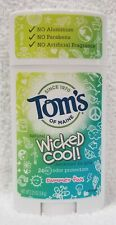 Tom's of Maine WICKED COOL! Natural Deodorant Girls Summer Fun 2.25 oz/64g New