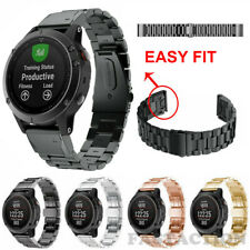 Easy Fit Stainless Steel Watch Band Metal Strap For Garmin Fenix 6X Pro 5X 5S 3