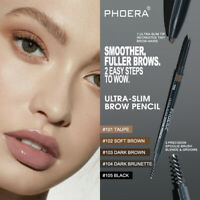 PHOERA Slim Tip Eyebrow Pencil Twist Up Pen Eye brow Brush Tattoo Pen Waterproof
