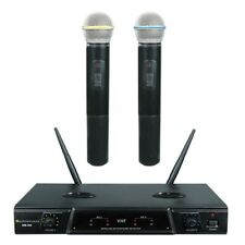 Vhf Dual channel Rechargeable Karaoke Wireless Microphone Wm 300 (New)