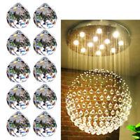 30mm Clear Crystal Feng Shui Lamps Ball Prism Rainbow Sun Catcher Wedding Decor