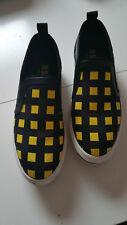 MSGM Sneaker, schwarz-gelb kariert, Gr. 40