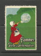 Flammer: polvo De Jabón Jabón y publicidad Sello/etiqueta (texto alemán)