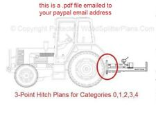 3-Point Hitch Plans For Categories 0,1,2,3 and 4. Tractor Implement Attachment