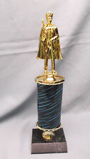 male trophy award king topper black and blue oval column