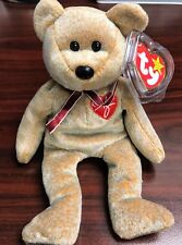 "TY Retired Beanie Baby ""1999 SIGNATURE"" Bear - w/Heart Tag Protector"