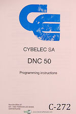 Cybelec SA DNC 50, Programming Instructions Manual 1993