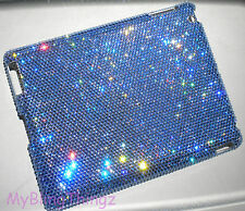 16ss LT SAPPHIRE CRYSTAL Diamond Bling Case for iPad 4 made w Swarovski Elements