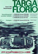VINTAGE 1964 PORSCHE TARGA FLORIO MOTOR RACING A4 POSTER PRINT