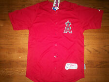 LOS ANGELES ANGELS NEW MLB MAJESTIC AUTHENTIC COOL BASE KIDS JERSEY