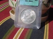 1886 Morgan Dollar ICG MS64 STUNNING LUSTER DEEP FIELDS
