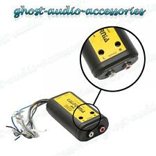 High Level Speaker to Low Level RCA Converter Adaptor 2 Channel inc auto remote