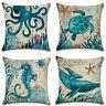 """18"""" Tropical Marine Ocean Cushion Cover Waist Throw Pillow Case Home Sofa Decor"""