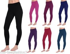 Women High Waist Cotton Leggings Full Length All Sizes & Colours