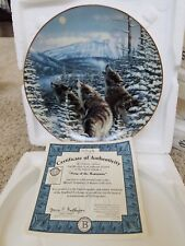 """Song of the Mountains 8"""" Plate Wolf"""