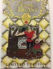 Disney Parks Beauty & Beast 25 Enchanted Years Gaston & Le Fou LE Pin