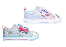 Skechers Twinkle Toes Sparkle Brillo Correa Rosa Luces Entrenadores Zapatos con luces