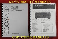 Kenwood TS-140S/TS-680S Service & Instruction Manuals ****ON 32 LB PAPER****