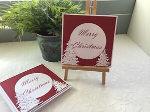 PACK OF 4 6x6 INCH CHRISTMAS CARDS