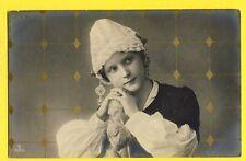 cpa Bromolitho 1906 Old Postcard JEUNE FEMME Bonnet Young Woman LOUISE MICHEL