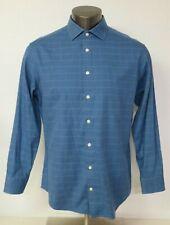 Mens Charles Tyrwhitt Long Sleeve Button Front Dress Shirt Size 16 1/2 x 34 Blue