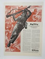 Original Print Ad 1943 WILSON SPORTS Equipment Agility WWII Soldier GI