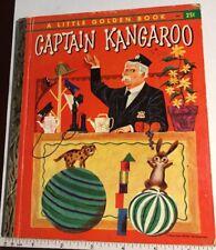 """Captain Kangaroo 1956 Little Golden Book  """"D"""" Edition"""